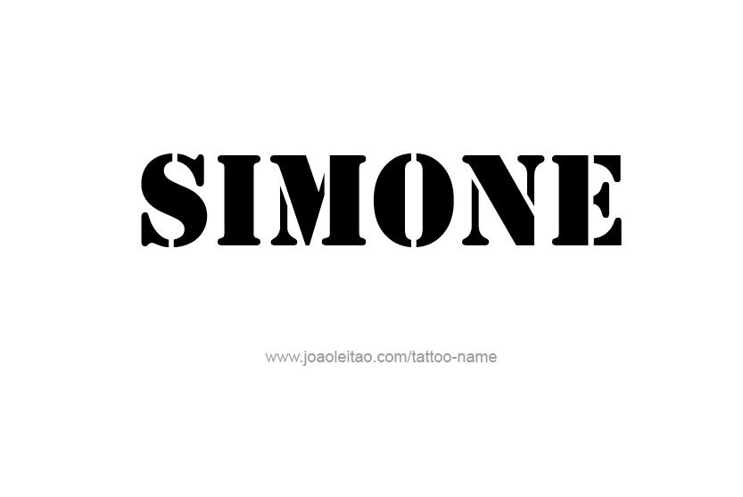 Tattoo Design Name Simone