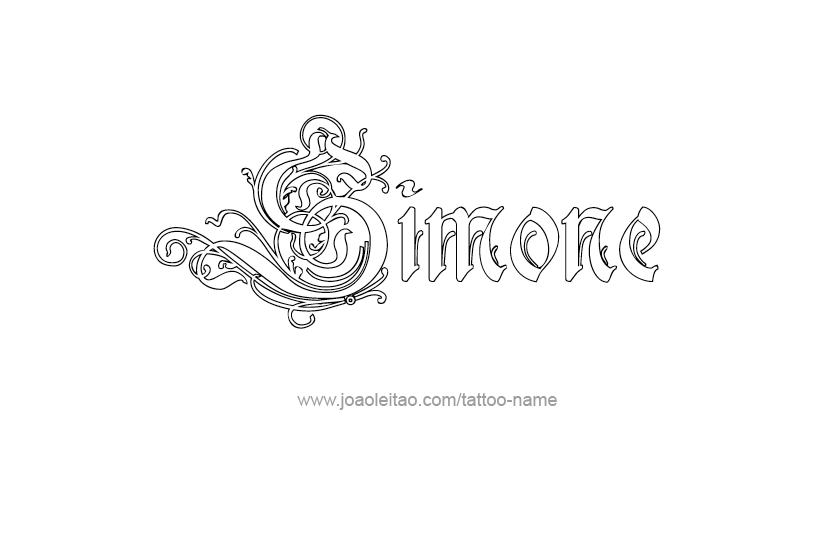 Tattoo Design Name Simone