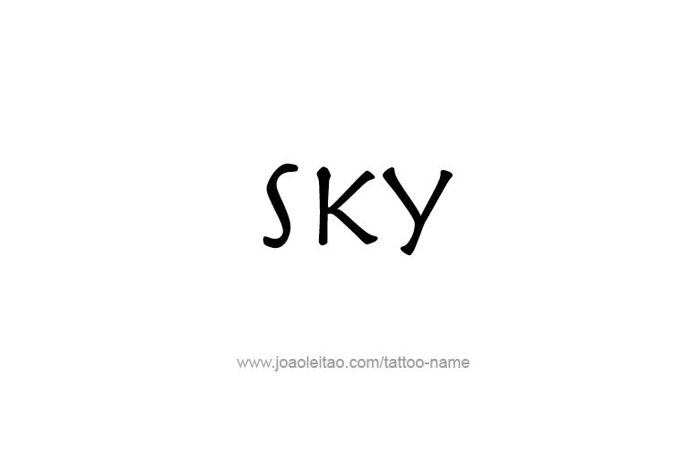 Tattoo Design Name Sky