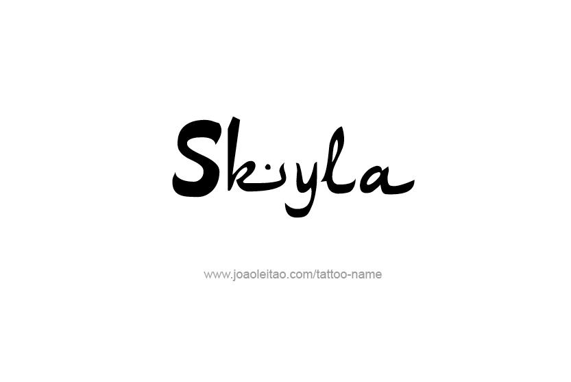 Tattoo Design Name Skyla
