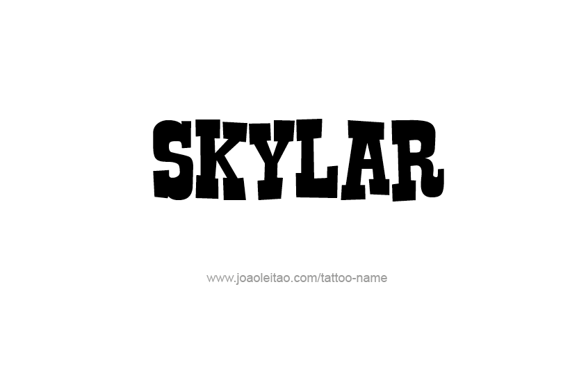 Tattoo Design Name Skylar