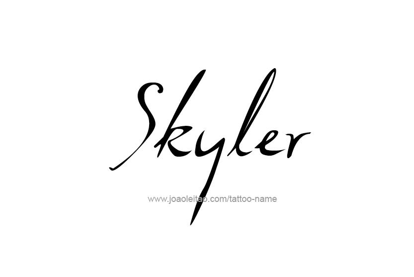 Tattoo Design Name Skyler