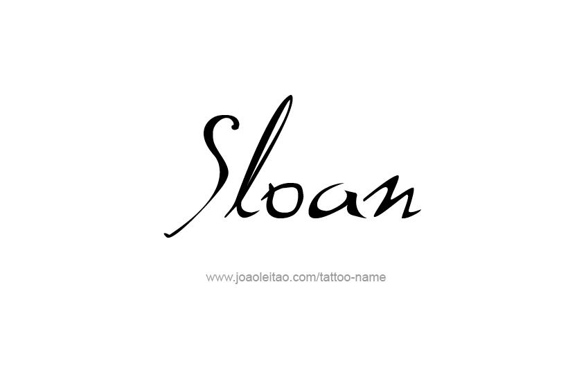 Tattoo Design Name Sloan