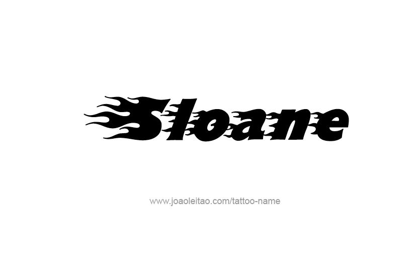 Tattoo Design Name Sloane