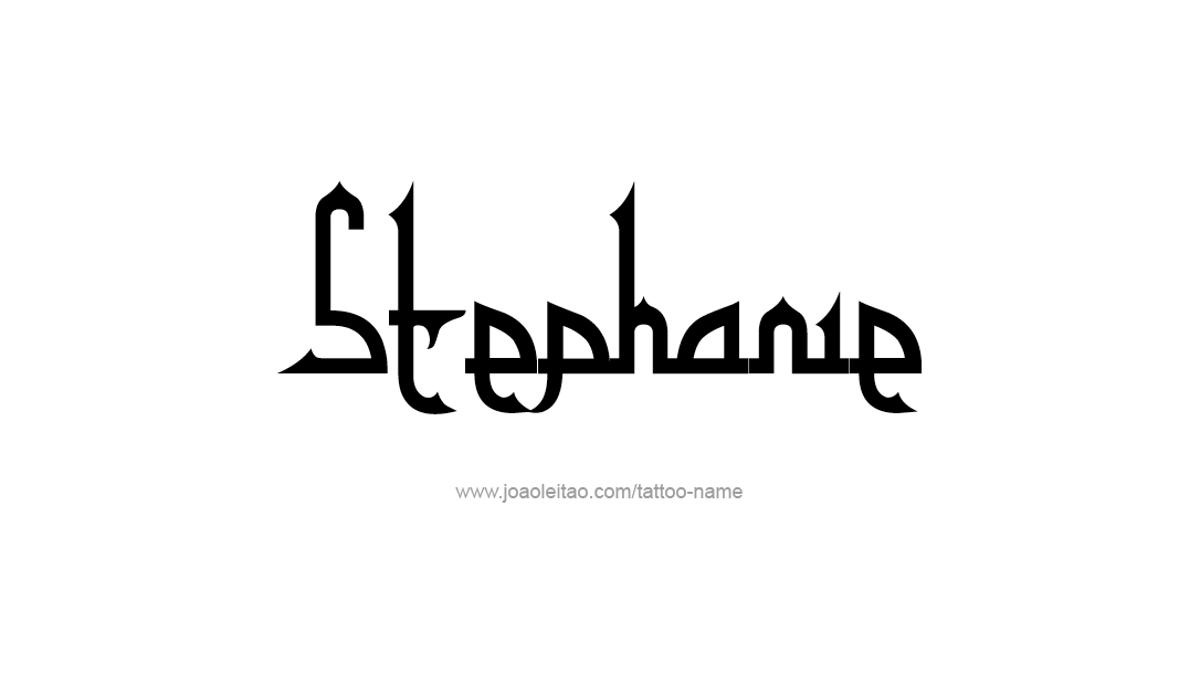 Tattoo Design Name Stephanie