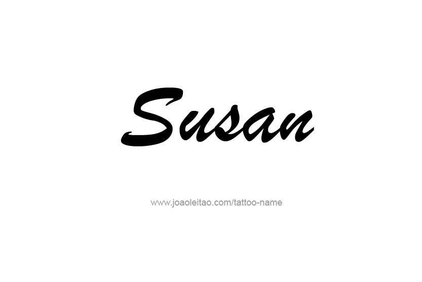 Tattoo Design Name Susan