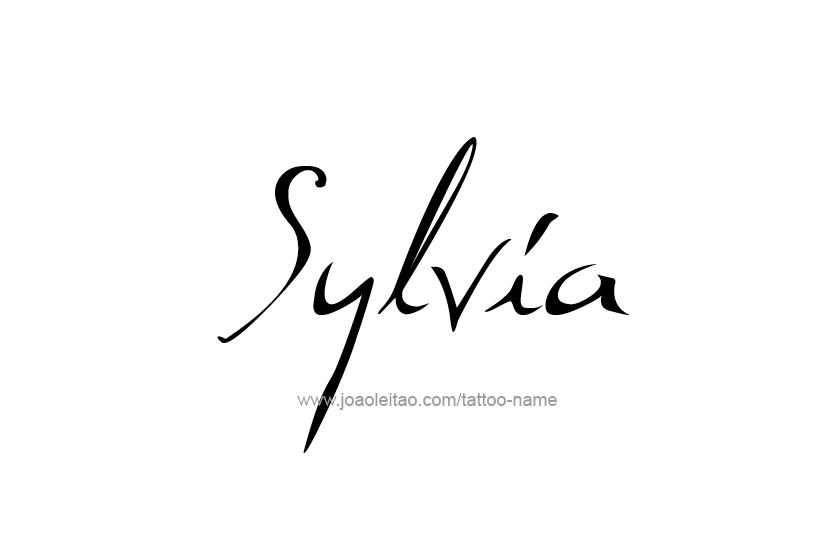 Tattoo Design Name Sylvia