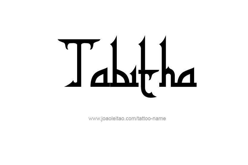 Tattoo Design Name Tabitha