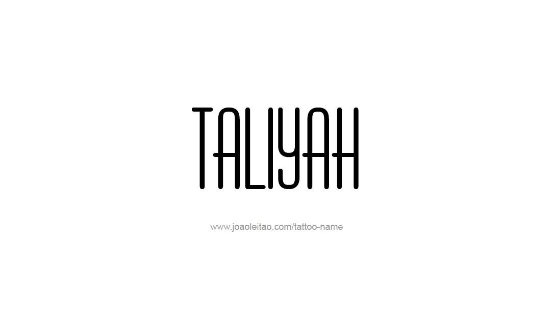 Tattoo Design Name Taliyah