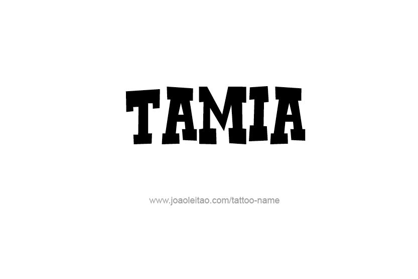 Tattoo Design Name Tamia