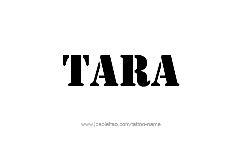 Tattoo Design Name Tara