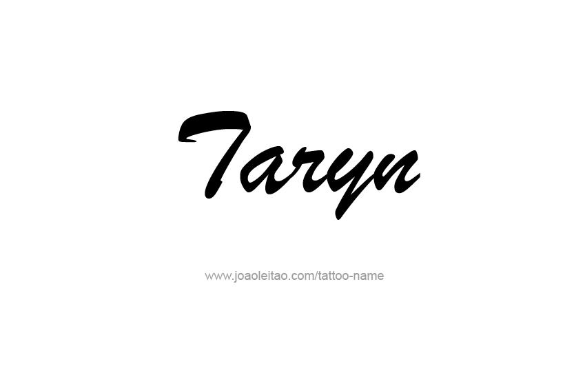 Tattoo Design Name Taryn