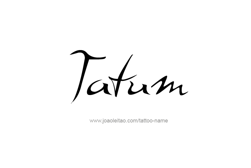 Tattoo Design Name Tatum