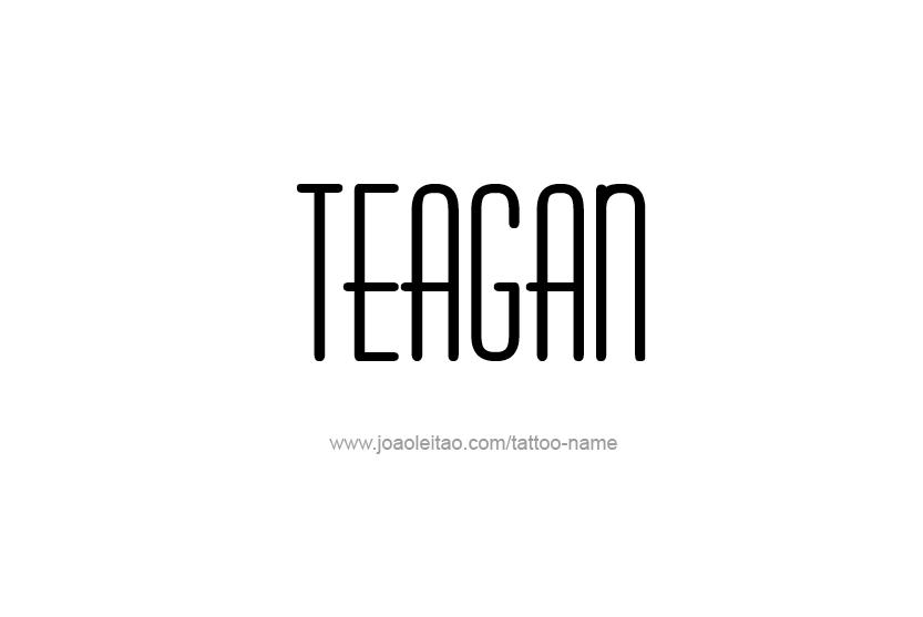 Tattoo Design Name Teagan