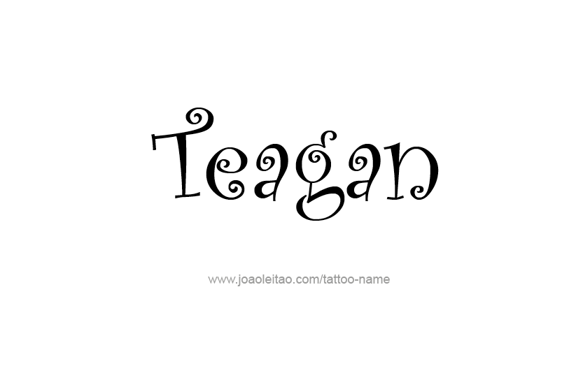 Tattoo Design Name Teagan