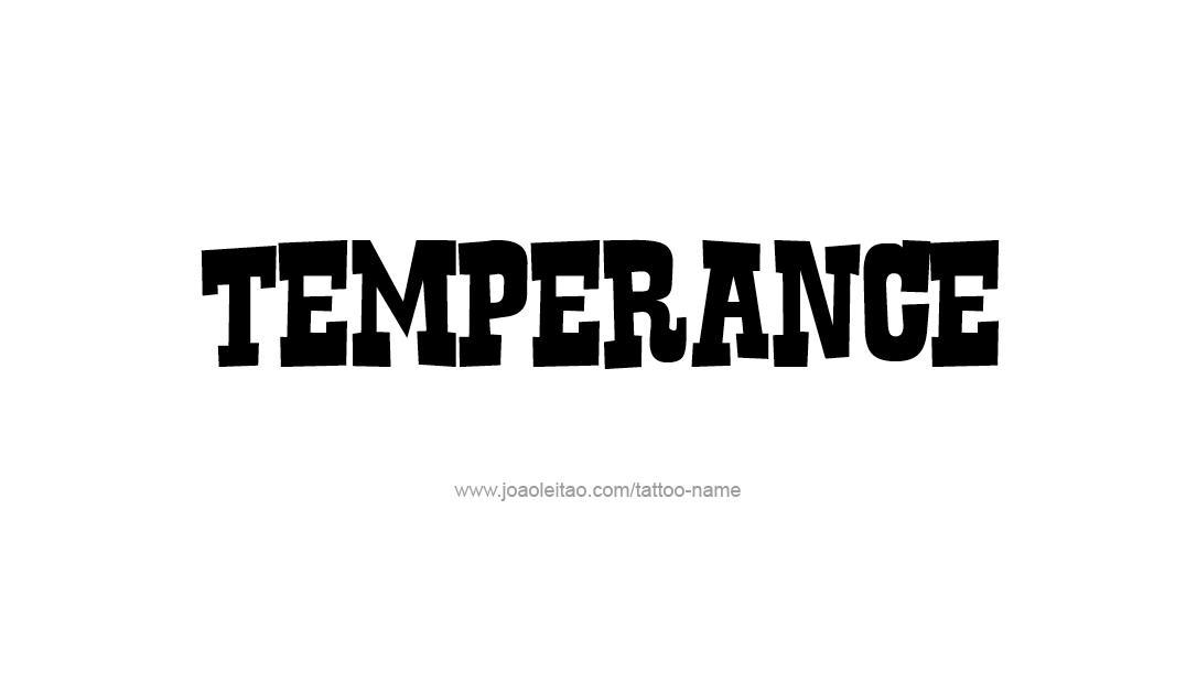 Tattoo Design Name Temperance