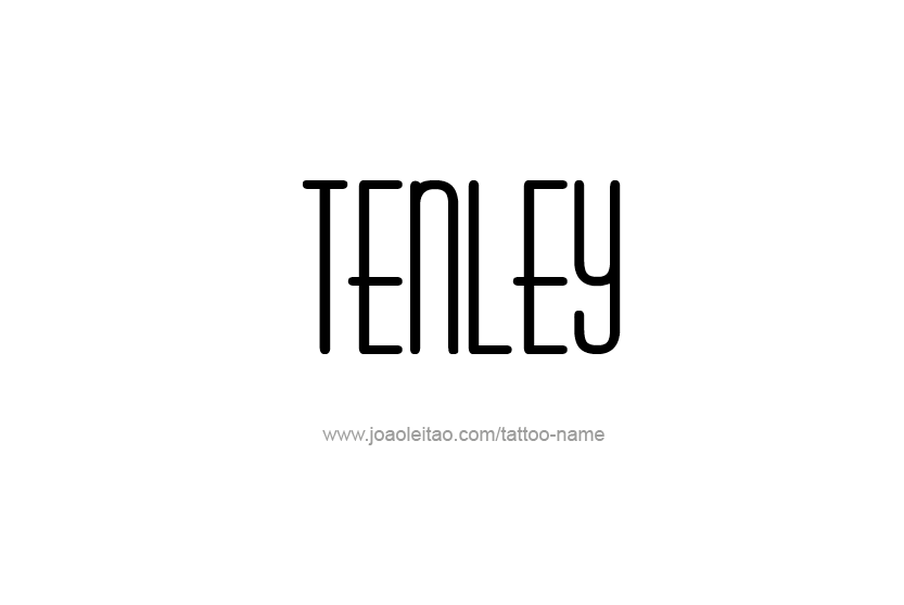 Tattoo Design Name Tenley