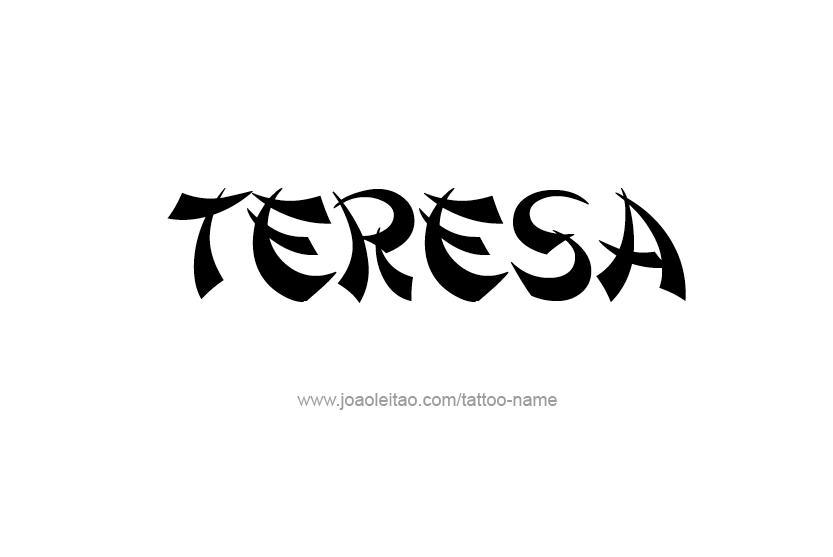 Teresa Name Tattoo Designs