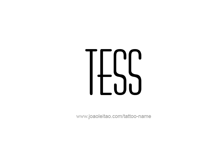 Tattoo Design Name Tess