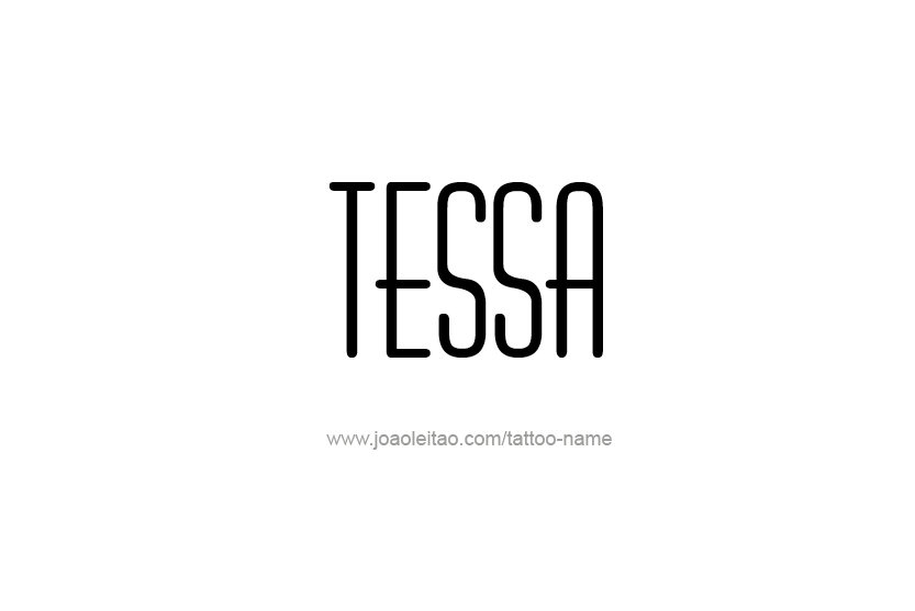 Tattoo Design Name Tessa