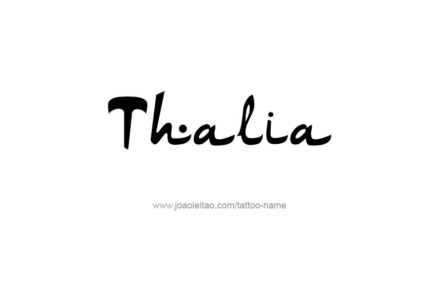 Tattoo Design Name Thalia