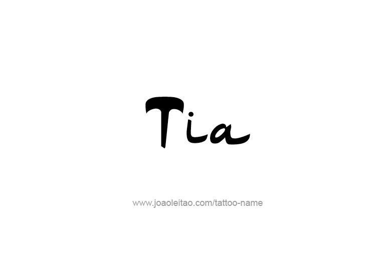 Tattoo Design Name Tia