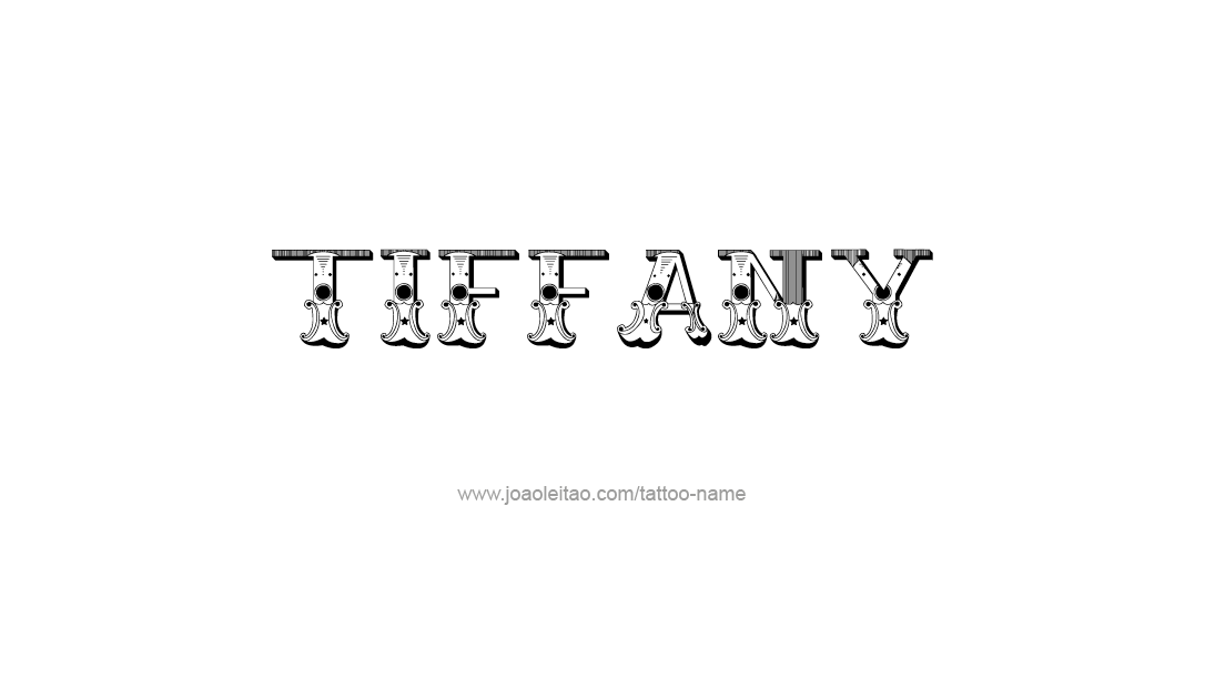 Tattoo Design Name Tiffany