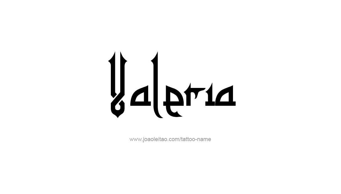 Tattoo Design Name Valeria