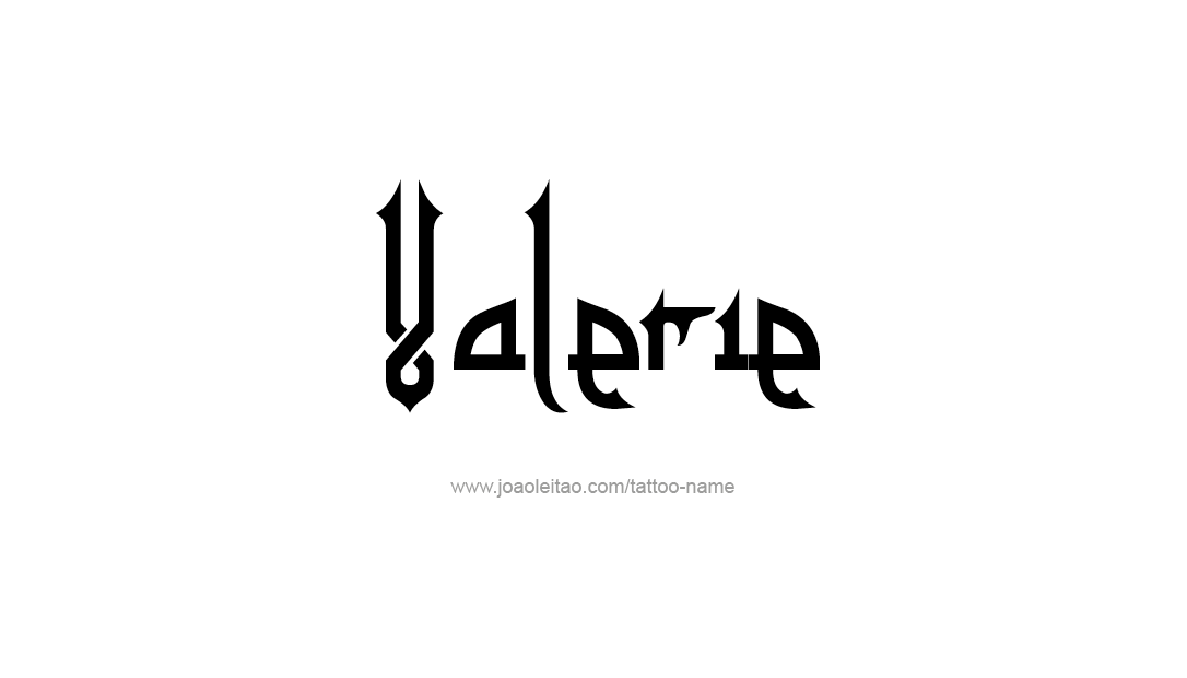 Tattoo Design Name Valerie