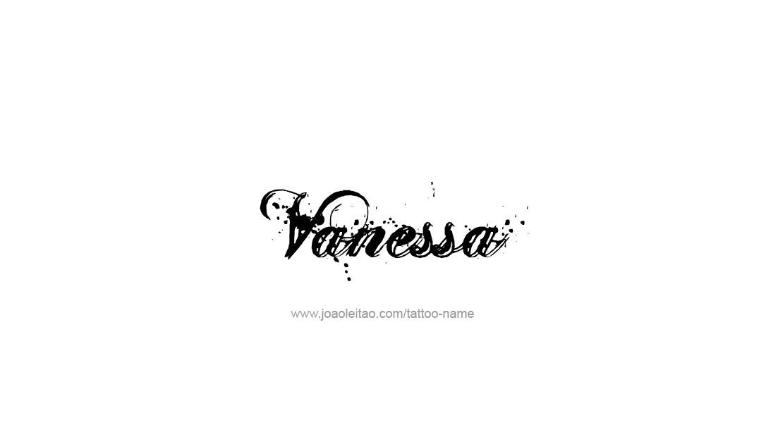 Vanessa Name Tattoo Designs