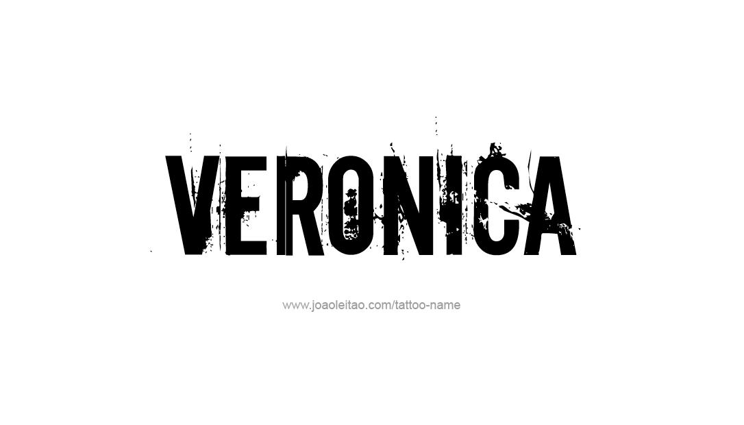 Tattoo Design Name Veronica