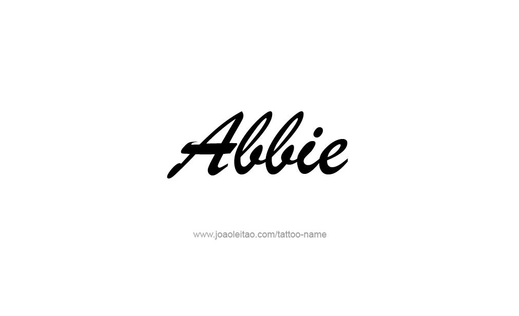 Tattoo Design  Name Abbie