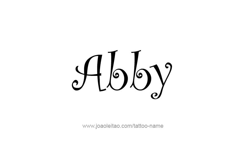 Tattoo Design  Name Abby