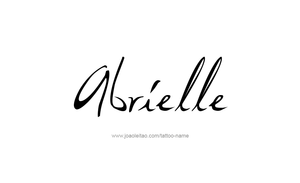 Tattoo Design  Name Abrielle