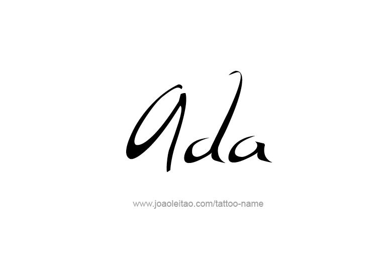 Tattoo Design  Name Ada