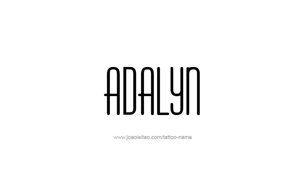 Tattoo Design  Name Adalyn