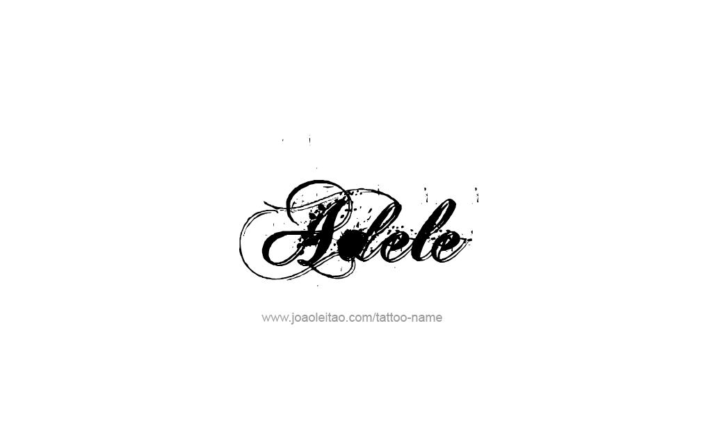 Tattoo Design  Name Adele