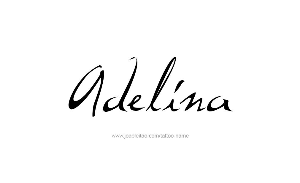 Tattoo Design  Name Adelina