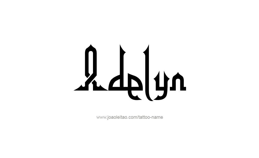 Tattoo Design  Name Adelyn