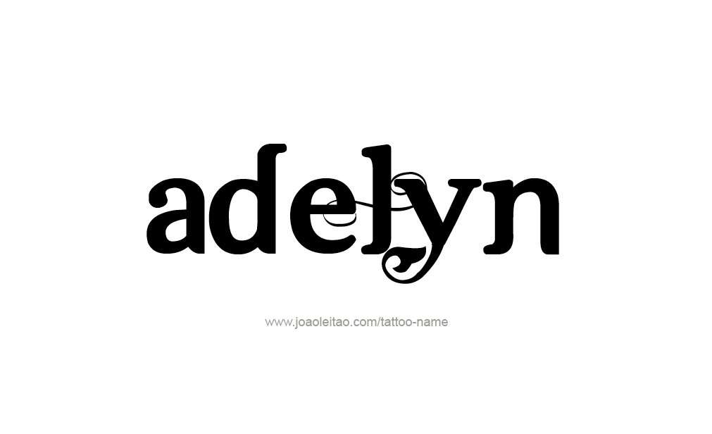 Tattoo Design  Name Adelyn