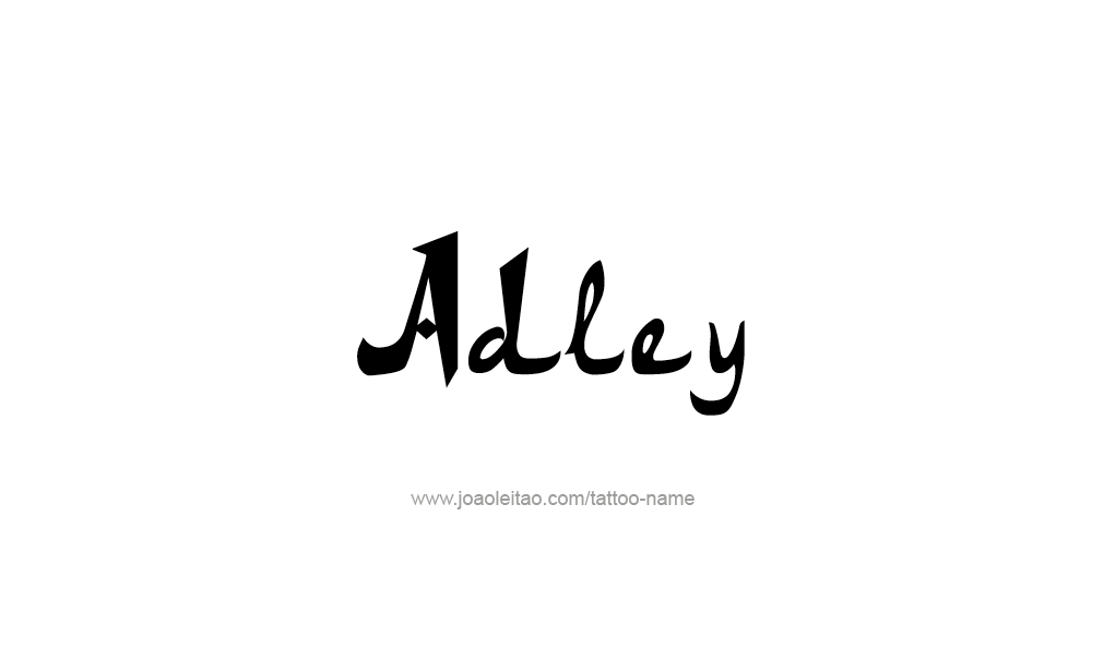 Tattoo Design  Name adley