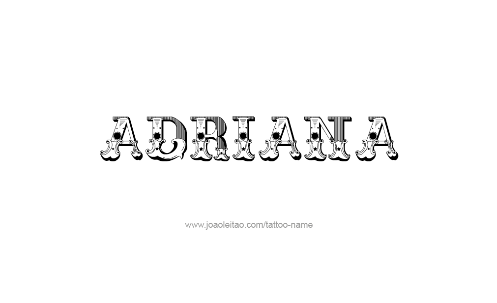 Tattoo Design  Name adriana
