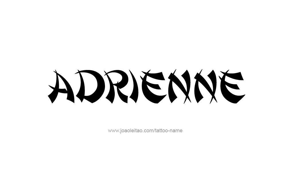 Tattoo Design  Name Adrienne