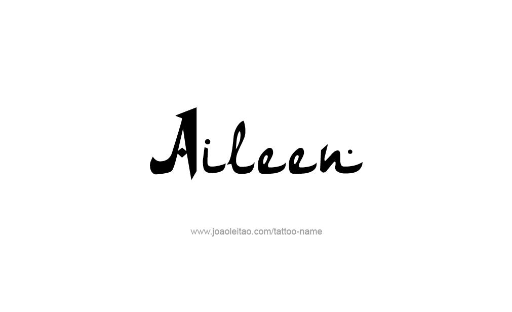 Tattoo Design  Name Aileen