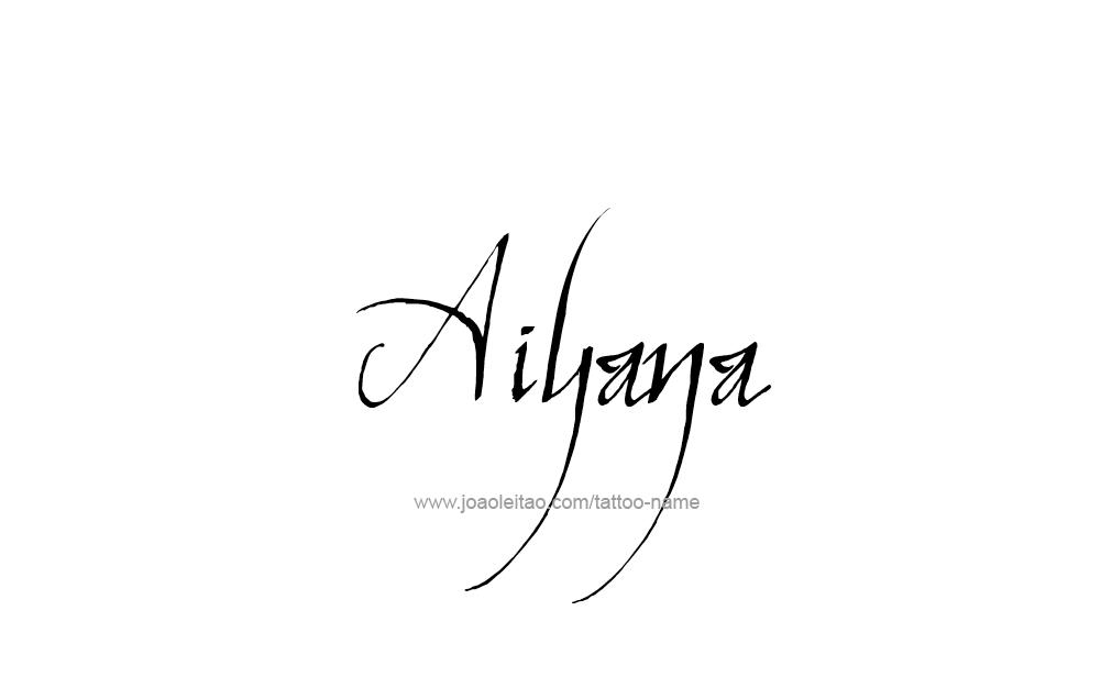 Tattoo Design  Name Aiyana
