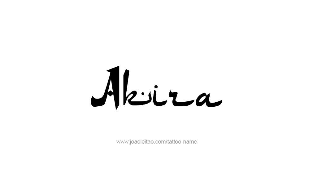 Tattoo Design  Name Akira