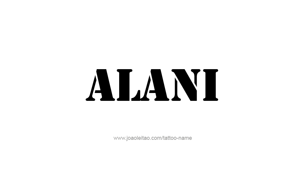 Tattoo Design  Name Alani