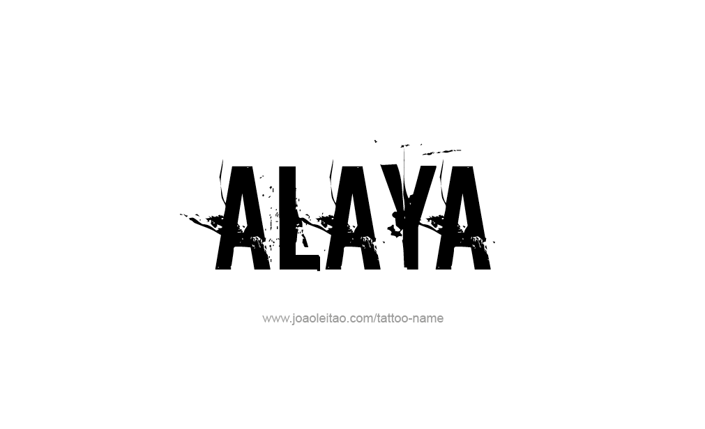 Tattoo Design  Name Alaya