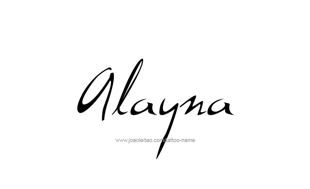Tattoo Design  Name Alayna
