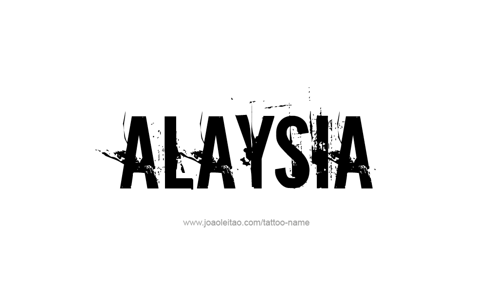 Tattoo Design  Name Alaysia